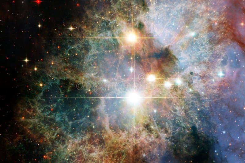Mgławica międzygwiazdowa chmura gwiazdowego pyłu kosmosu wizerunek ilustracji
