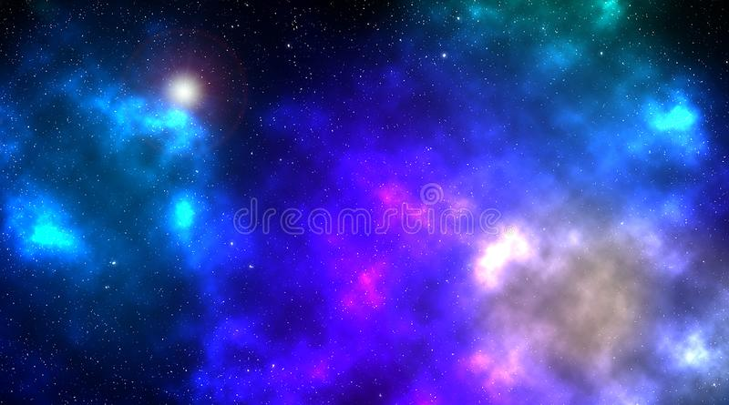 Mgławica w głębokiej przestrzeni z jaśnienie gwiazdą fotografia stock