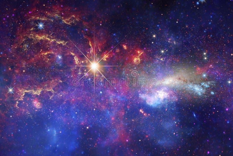 Mgławica w pięknym niekończący się wszechświacie Wspaniały dla tapety i druku zdjęcia royalty free