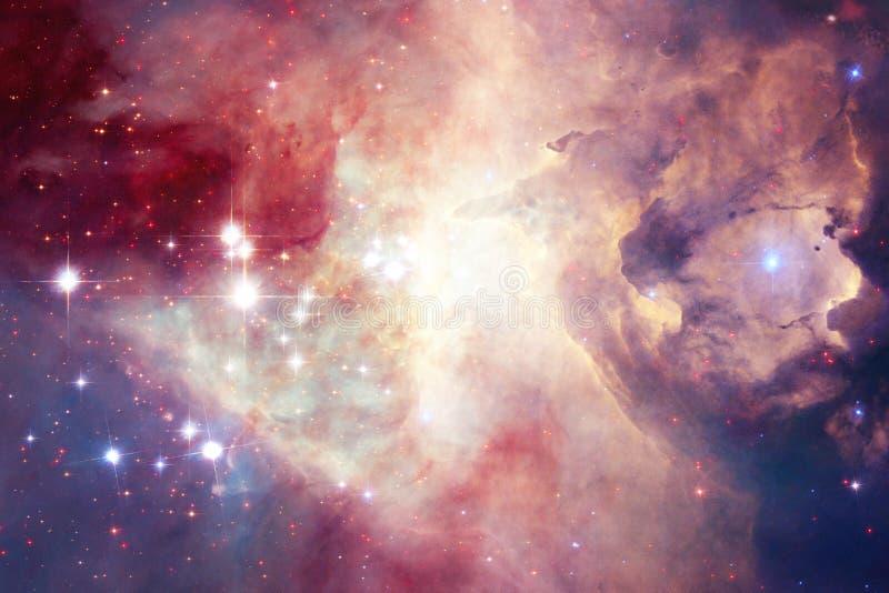 Mgławica w pięknym niekończący się wszechświacie Wspaniały dla tapety i druku Elementy ten wizerunek meblujący NASA ilustracji