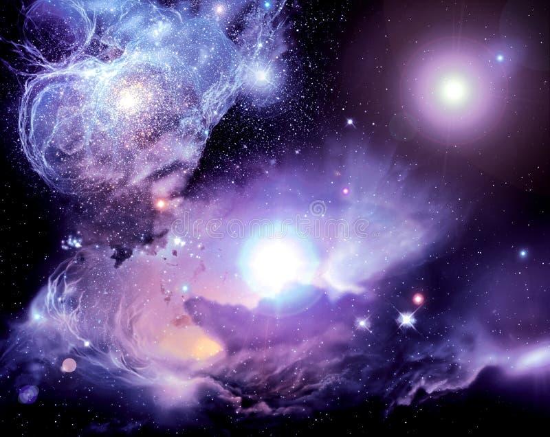 mgławice przestrzeni ilustracja wektor
