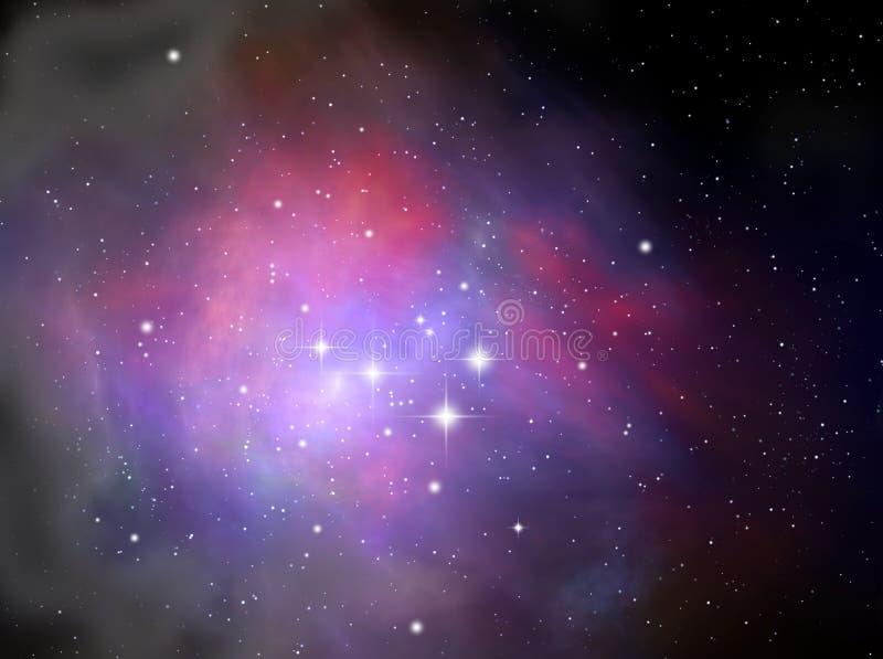 mgławicy kolorowa przestrzeń ilustracja wektor