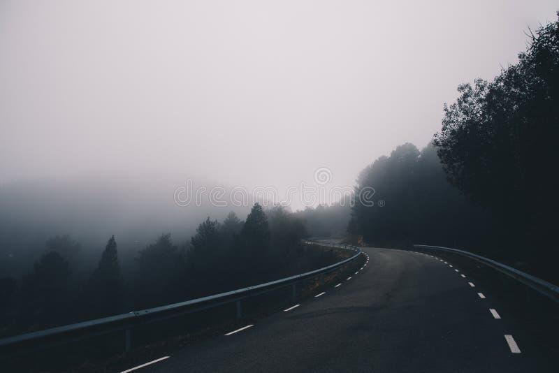 Mgłowa droga w Halnym Niemcy zdjęcie royalty free