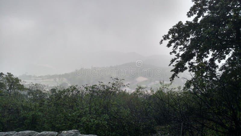 Mgłowy dolinny widok od góry obraz stock