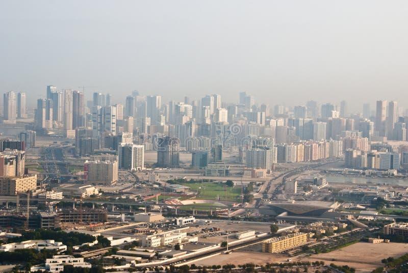 Mgłowy Dubaj obraz stock