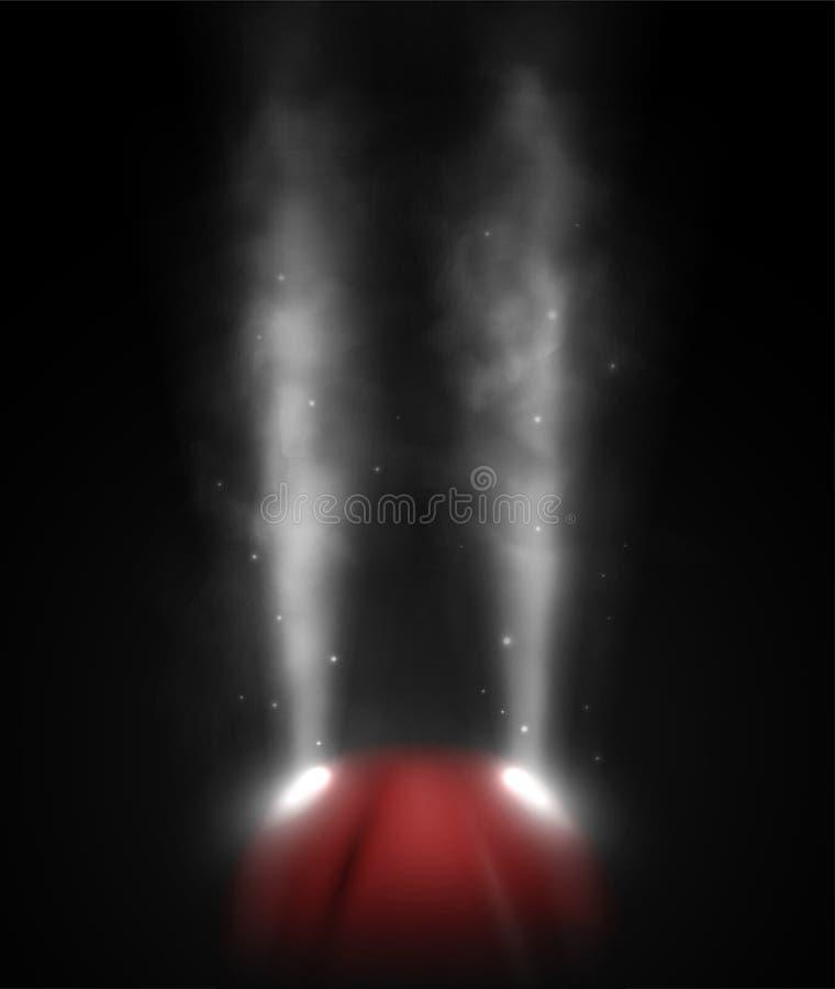Mgłowy dzień ilustracji