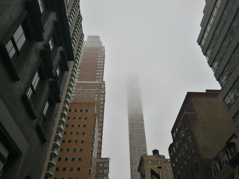 Mgłowy dzień przy nowym York zdjęcie stock
