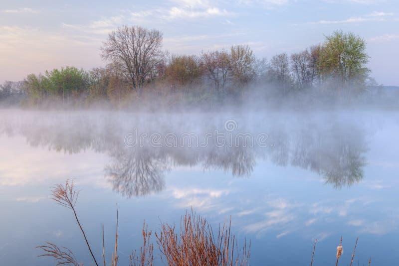 mgły dziury Jackson jezioro zdjęcia stock