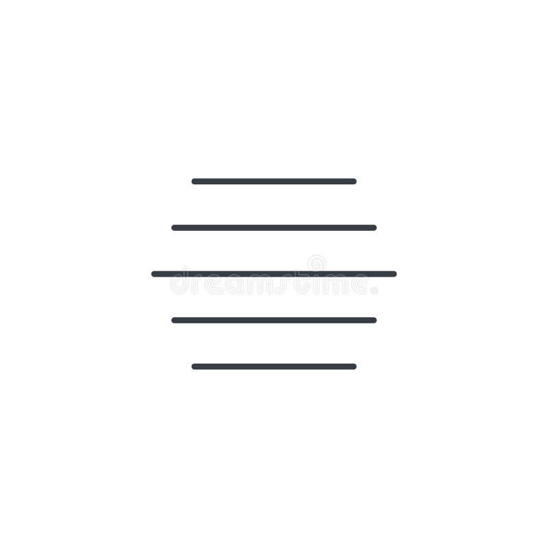 Mgły pogody cienka kreskowa ikona Liniowy wektorowy symbol ilustracja wektor