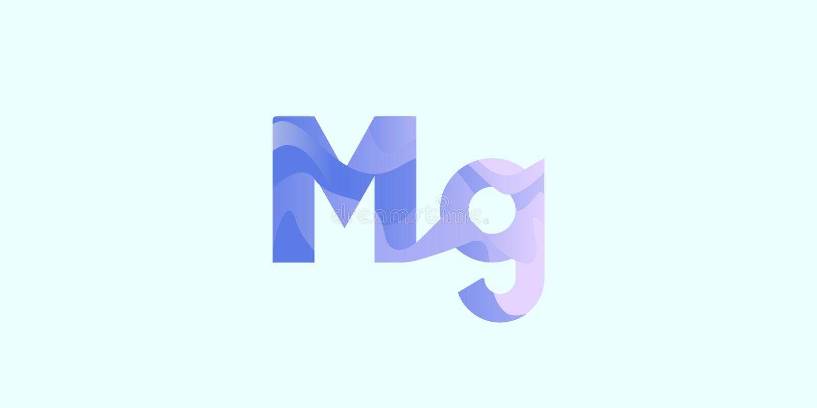 Mg-magnesium chemisch element stock illustratie