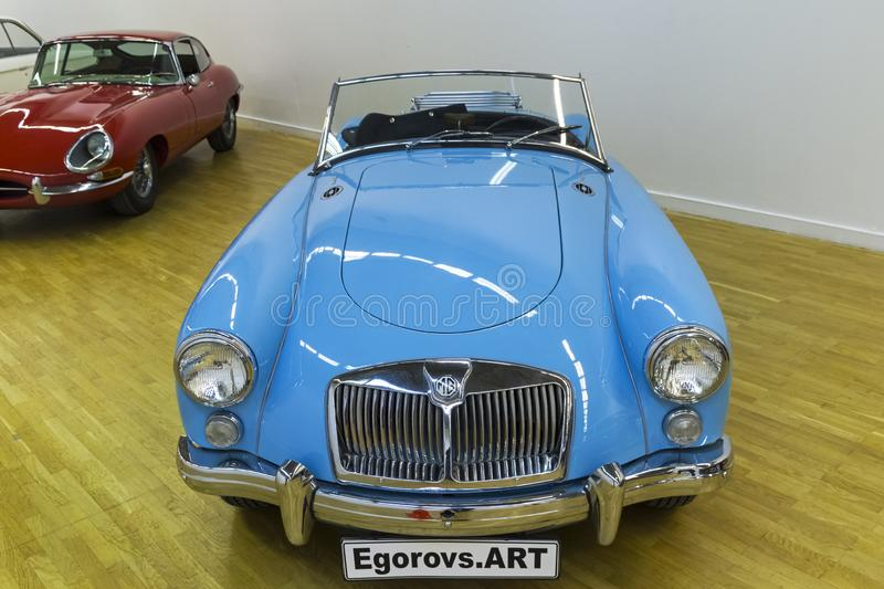 MG 1600 MK II car made in 1962. Moscow, Russia - November 10, 2018: MG 1600 MK II car made in 1962 at the exhibition of old and rare cars royalty free stock image