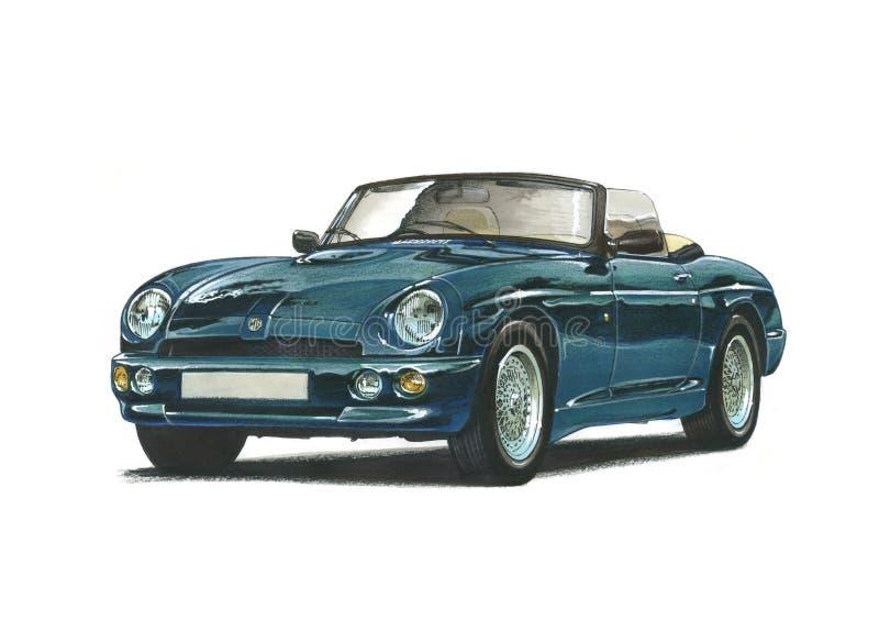 MG RV8 royalty ilustracja