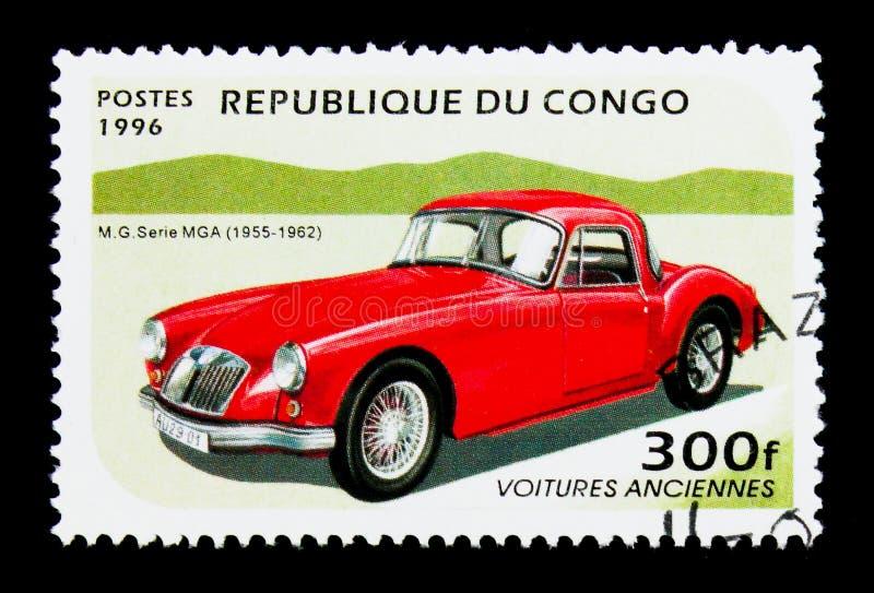 MG Seria MGA roczników samochodów seria około 1996, (1955-1962) fotografia stock