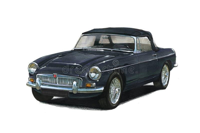 MG Sportscar 向量例证