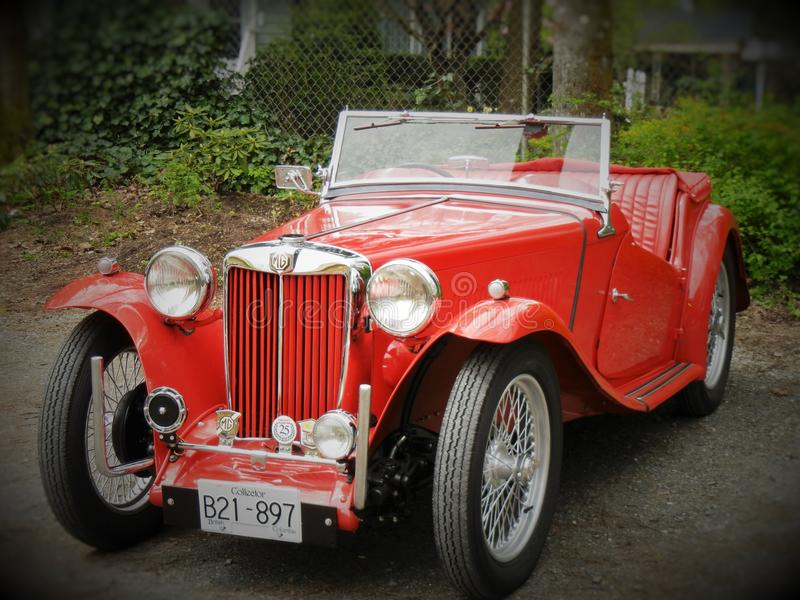 MG TD Roadster. A British MG TD sports car royalty free stock image