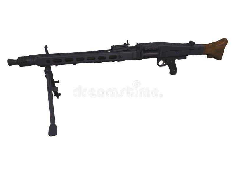 MG42 Machine Gun 3d Stock Photos
