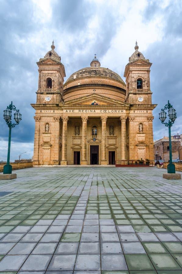 Mgarr kościół, Malta zdjęcia stock