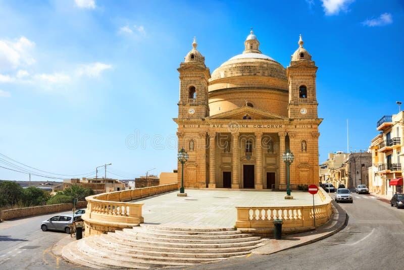 Mgarr kościół Malta fotografia royalty free