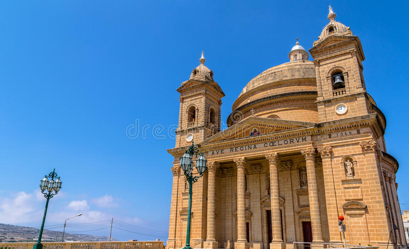 Mgarr kościół w Malta obraz royalty free
