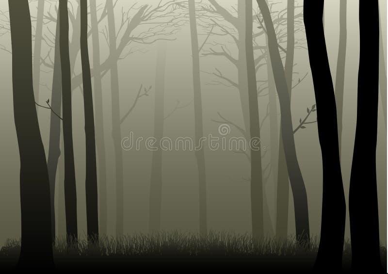 mgliści drewna ilustracja wektor