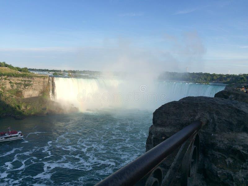 Mgliści Niagara spadki zdjęcia royalty free