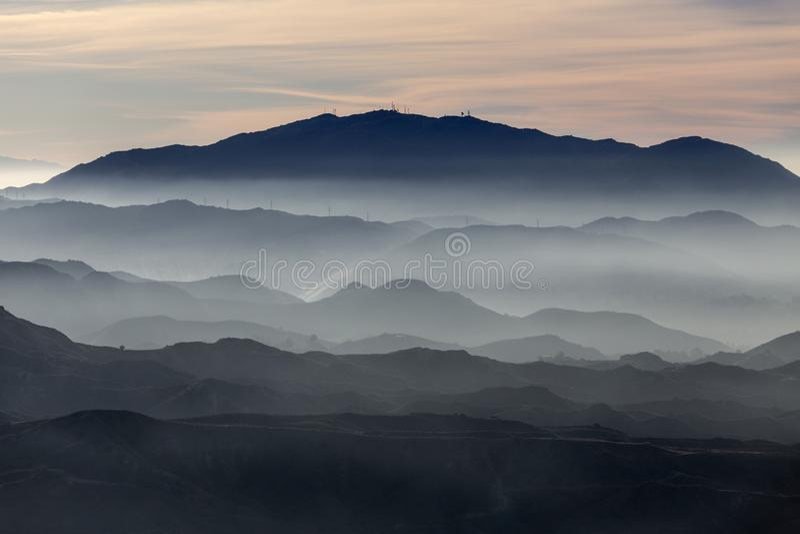 Mgliste Południowego Kalifornia granie zdjęcia stock