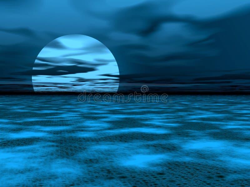 mglisty obraz noc ilustracji