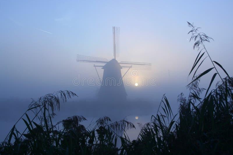 mglisty poranek młyn obrazy stock