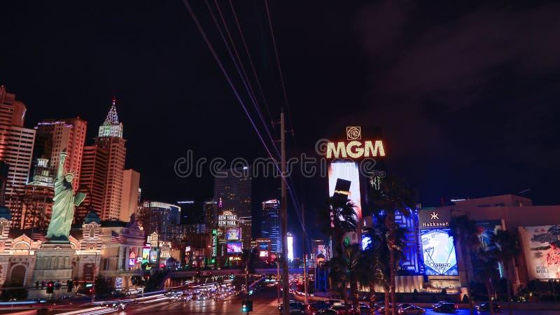 MGM Casino. Las Vegas, MGM Casino , by night royalty free stock image