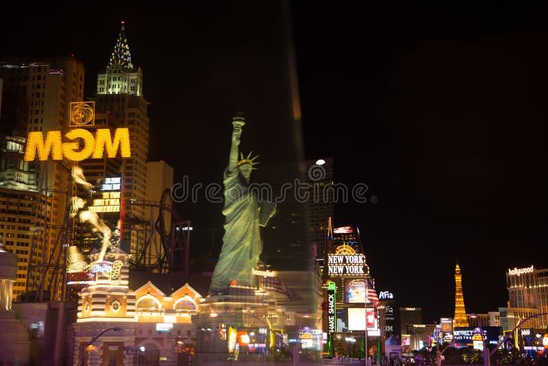 MGM Casino. Las Vegas, MGM Casino - reflections at night royalty free stock photos