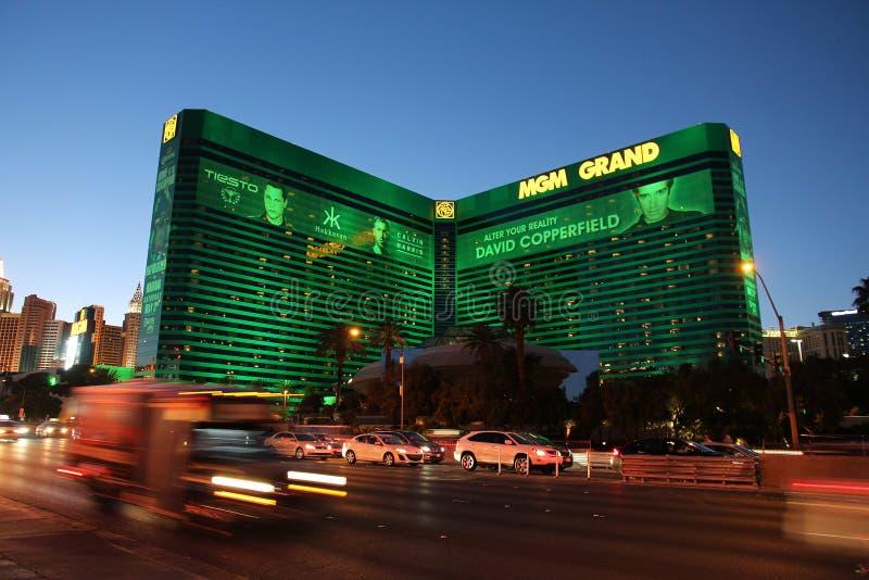 MGM Grand, Las Vegas. LAS VEGAS, USA - APRIL 13, 2014: MGM Grand casino resort in Las Vegas. There are 104 casinos in Las Vegas royalty free stock photos