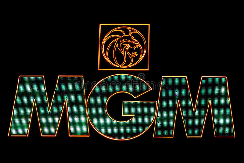 MGM Grand Las Vegas. Las Vegas, USA - April 22, 2012: The MGM Grand Las Vegas is one of the largest hotels in the world. The main sign on Las Vegas Boulevard and