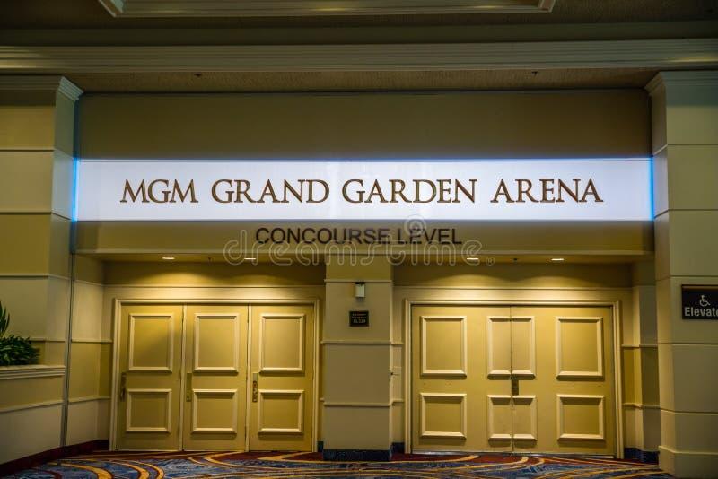 Mgm Grand trädgårdarena arkivfoto