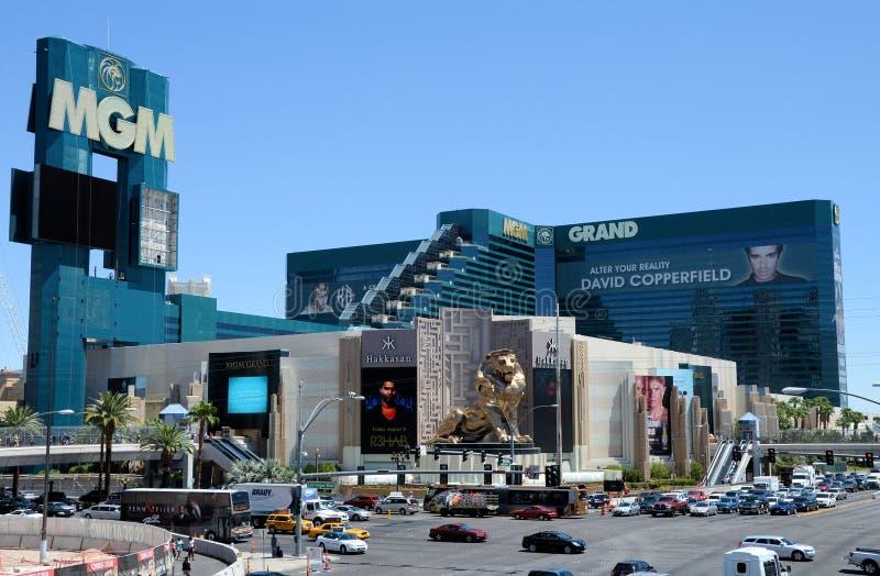MGM-hotell Las Vegas fotografering för bildbyråer