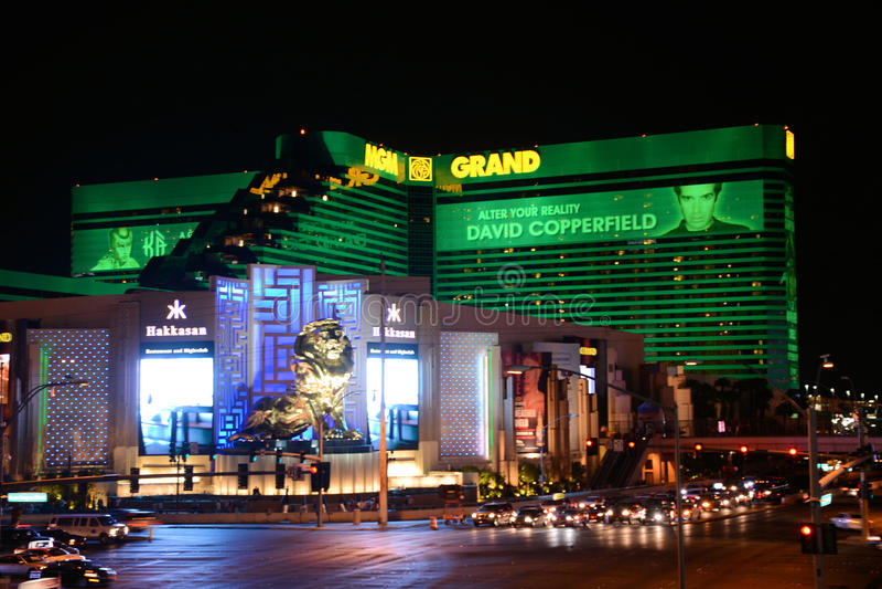 MGM-hotell Las Vegas arkivbild