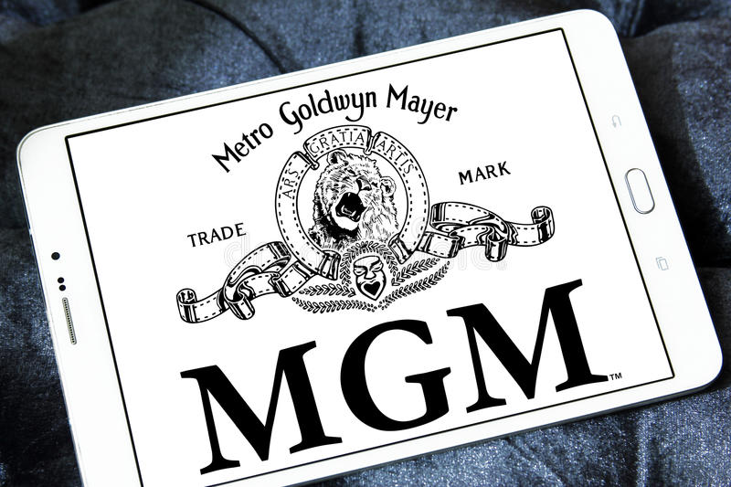 Mgm, logotipo dos estúdios de Goldwyn Mayer do metro fotos de stock royalty free
