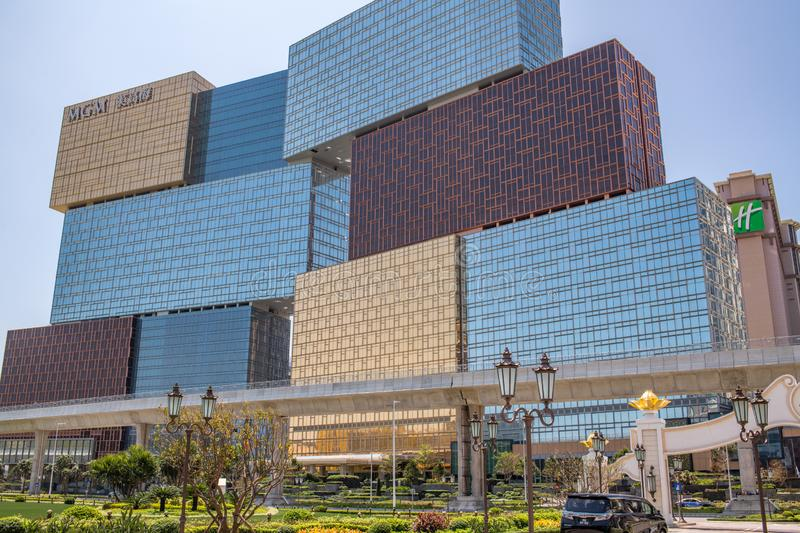 MGM Macao in Cotai royalty-vrije stock fotografie
