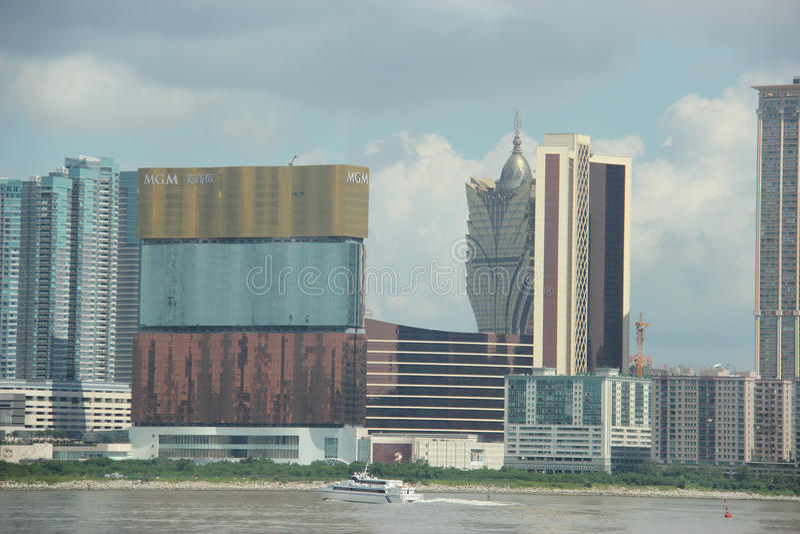 MGM Macau and Grand Lisboa royalty free stock photography