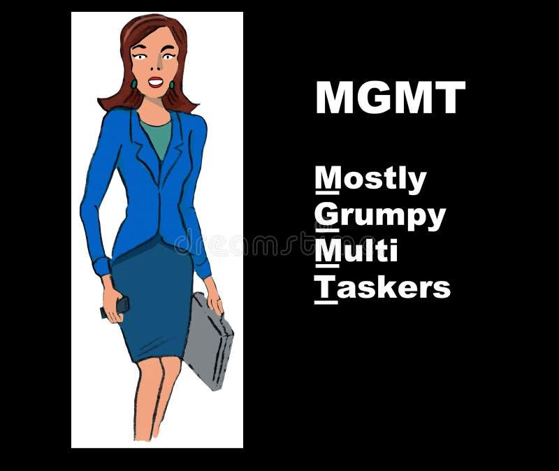 MGMT vektor illustrationer