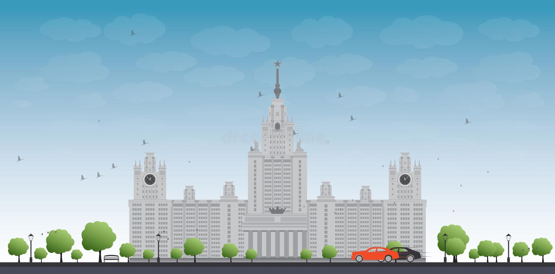 MGU Κρατικό πανεπιστήμιο της Μόσχας, Μόσχα, Ρωσία ελεύθερη απεικόνιση δικαιώματος