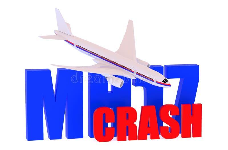 MH17 έννοια συντριβής 2014 διανυσματική απεικόνιση