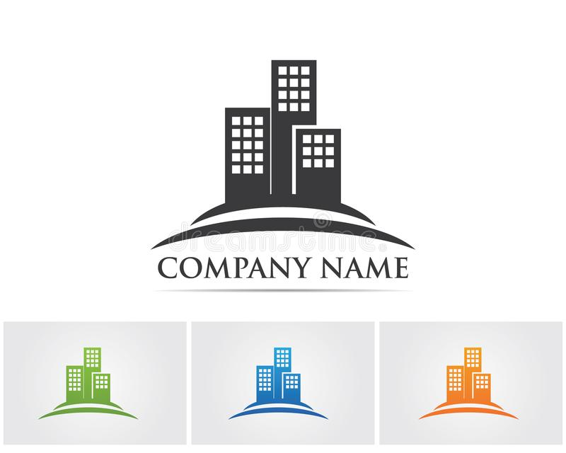 Mhome buildings logo and symbols icons template vector illustration