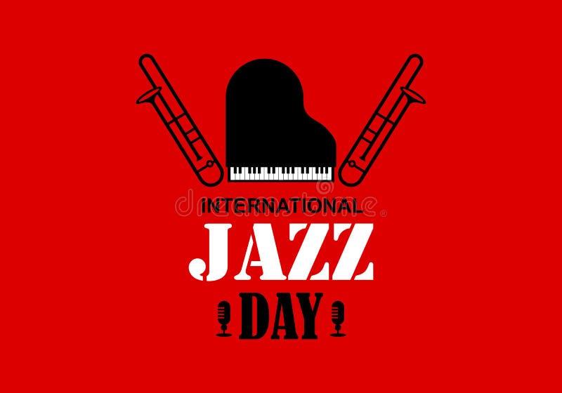 Międzynarodowa Jazzowa dnia wektoru ilustracja ilustracja wektor
