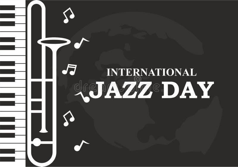 Międzynarodowa Jazzowa dnia wektoru ilustracja ilustracji