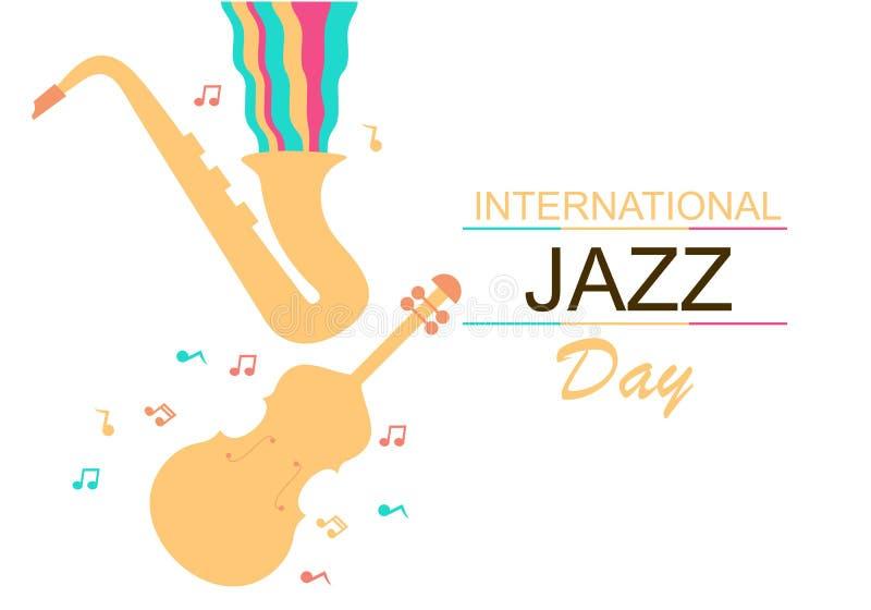 Międzynarodowa Jazzowa dnia wektoru ilustracja royalty ilustracja