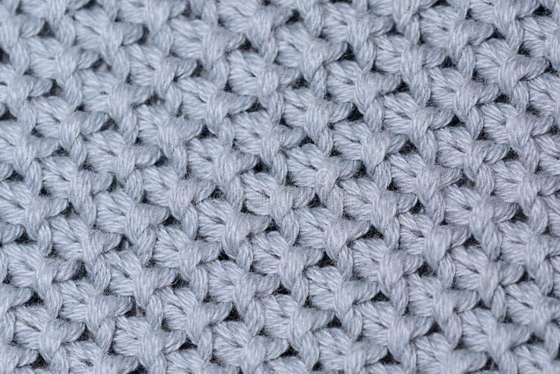 Miękka wełna dziająca tkaniny tekstura, zakończenie w górę fotografii Tło wizerunek obraz stock