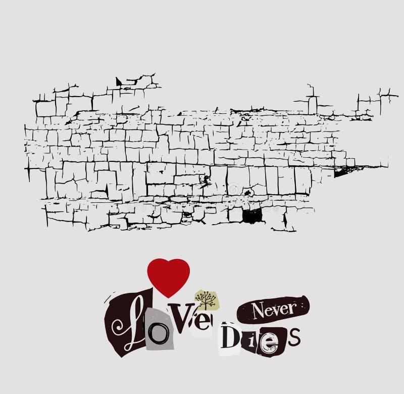Miłość Nigdy Umiera ilustracja wektor