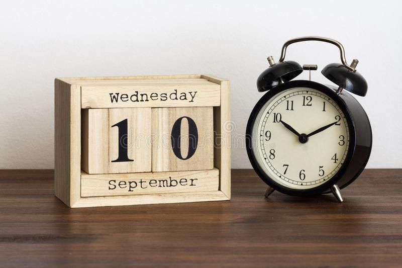 Miércoles 10 de septiembre fotografía de archivo
