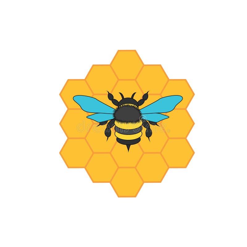 Miód i pszczoła zdjęcia royalty free