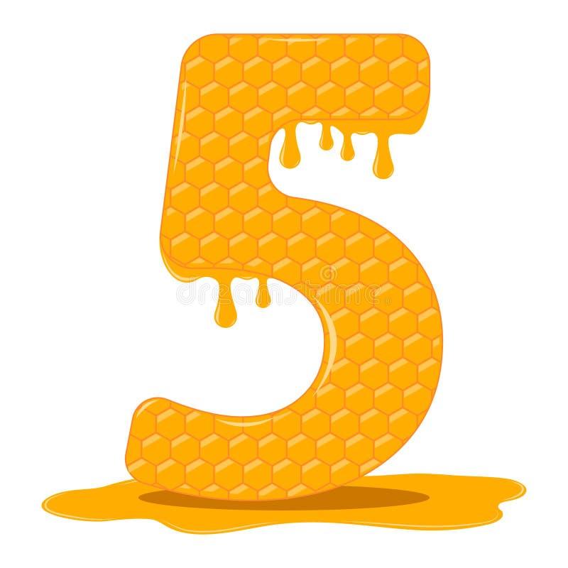 Miód jest pięć Wektorowe miodowe figurki zdjęcie stock